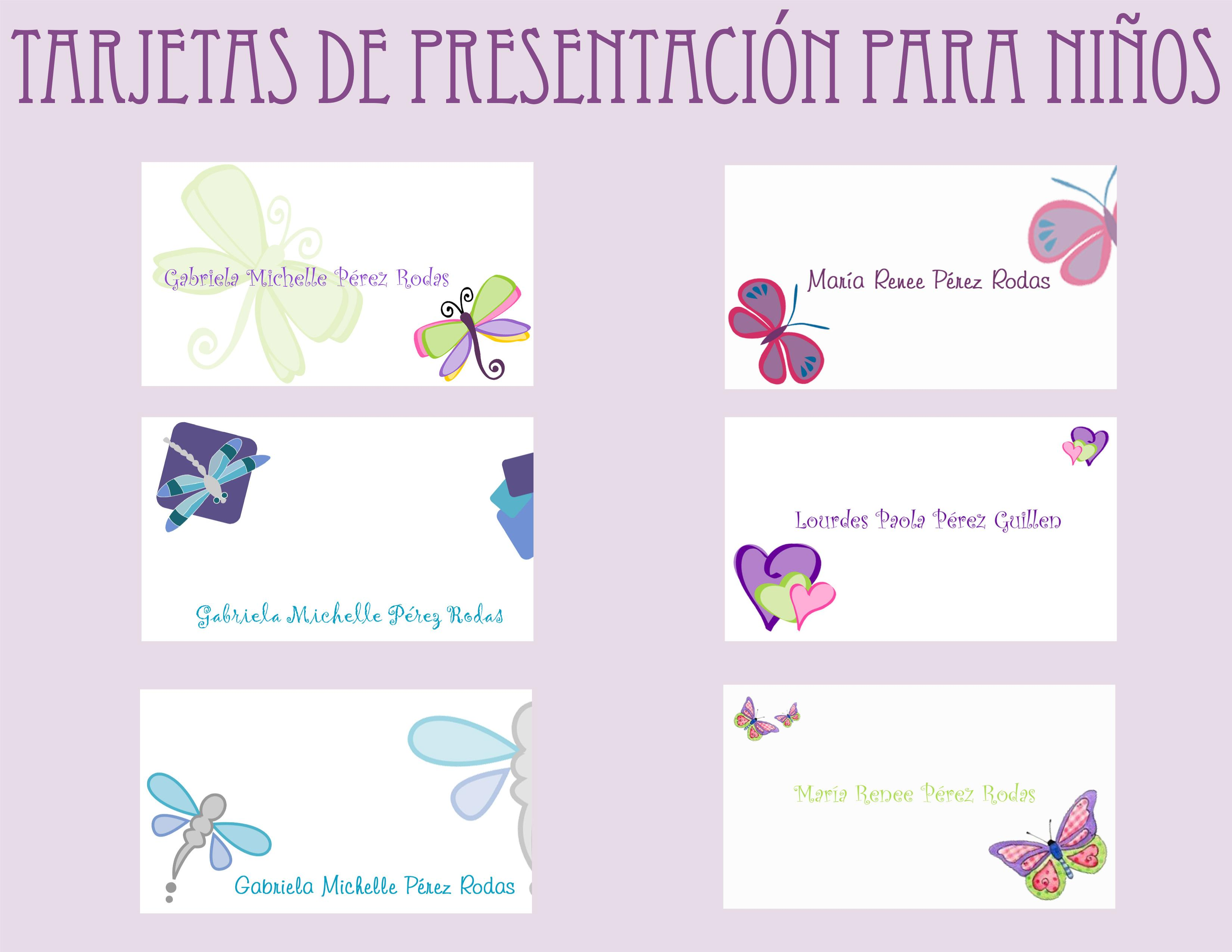 Fondos para tarjetas de presentacion infantiles gratis - Imagui